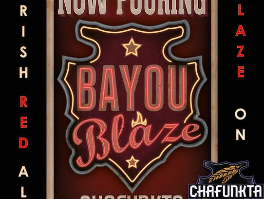 Chafunka's red Irish ale, Bayou Blaze.