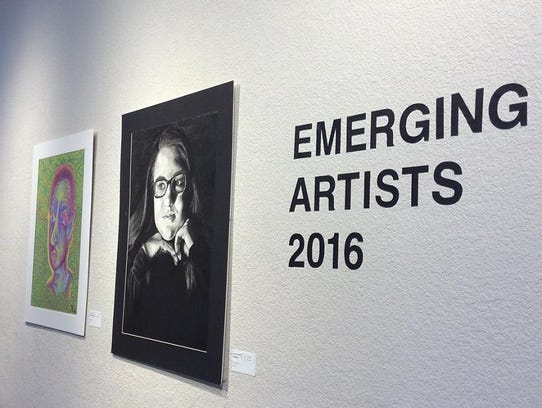 A reception for the Emerging Artist Exhibit at the