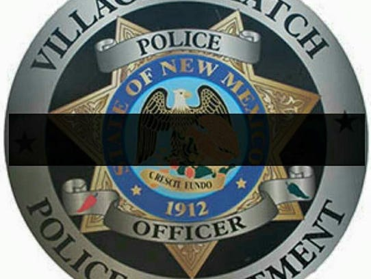 A decal showing the Hatch Police Department badge with