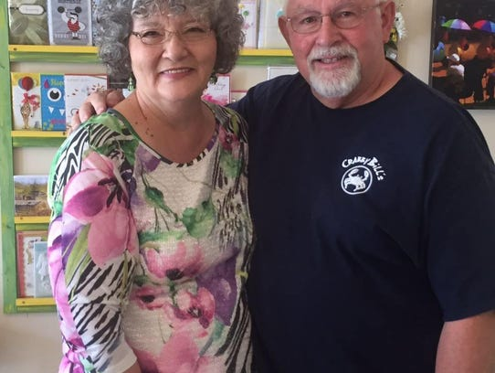 Andrea Crane (left) and her husband Gene Crane (right)