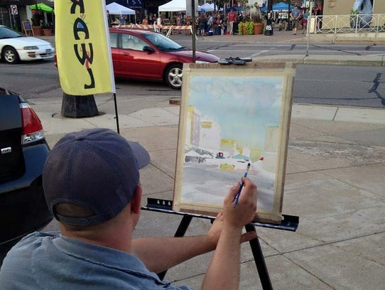 Artists will demonstrate at the Sizzling Summer Art