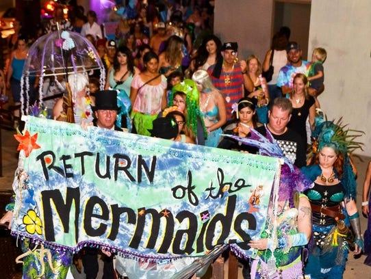 The Return of the Mermaids parade is held in Tucson.
