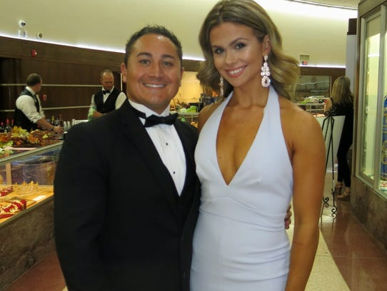 Caddo Commissioner Mario Chavez and Megan Ellis at