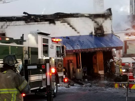 Much of the Joe Stickell Post 15 American Legion, 63 E. Main St., Waynesboro was destroyed in a fire early Thursday.