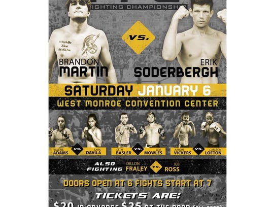 The West Monroe Convention Center will host MMA battles
