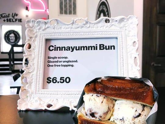 Ice cream sandwiches sometimes come on cinnamon rolls