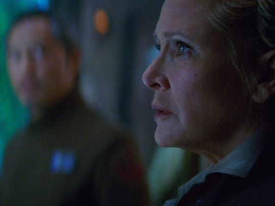 Leia (Carrie Fisher) in a scene from 'Star Wars: The