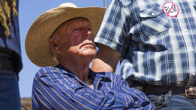 Cliven Bundy, seen in this 2014 photo, is on trial in connection with a 2014 armed revolt against the Bureau of Land Management.