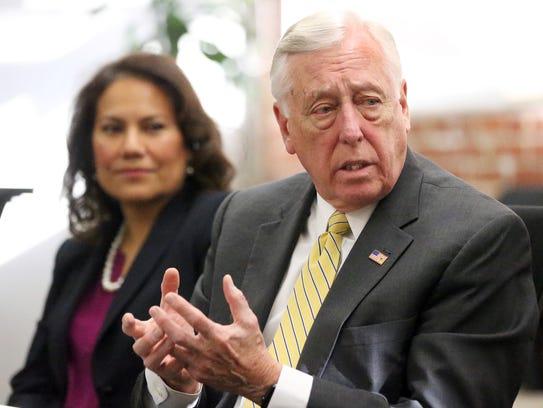 U.S. Rep. Steny Hoyer speaks to the El Paso Times Advisory