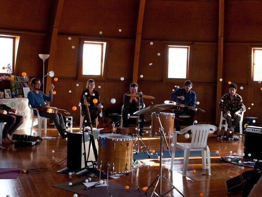 Seth Olinsky and musicians perform at The Integratron