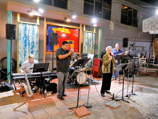 The weekly jazz jam sessions at the Studio 116 pocket