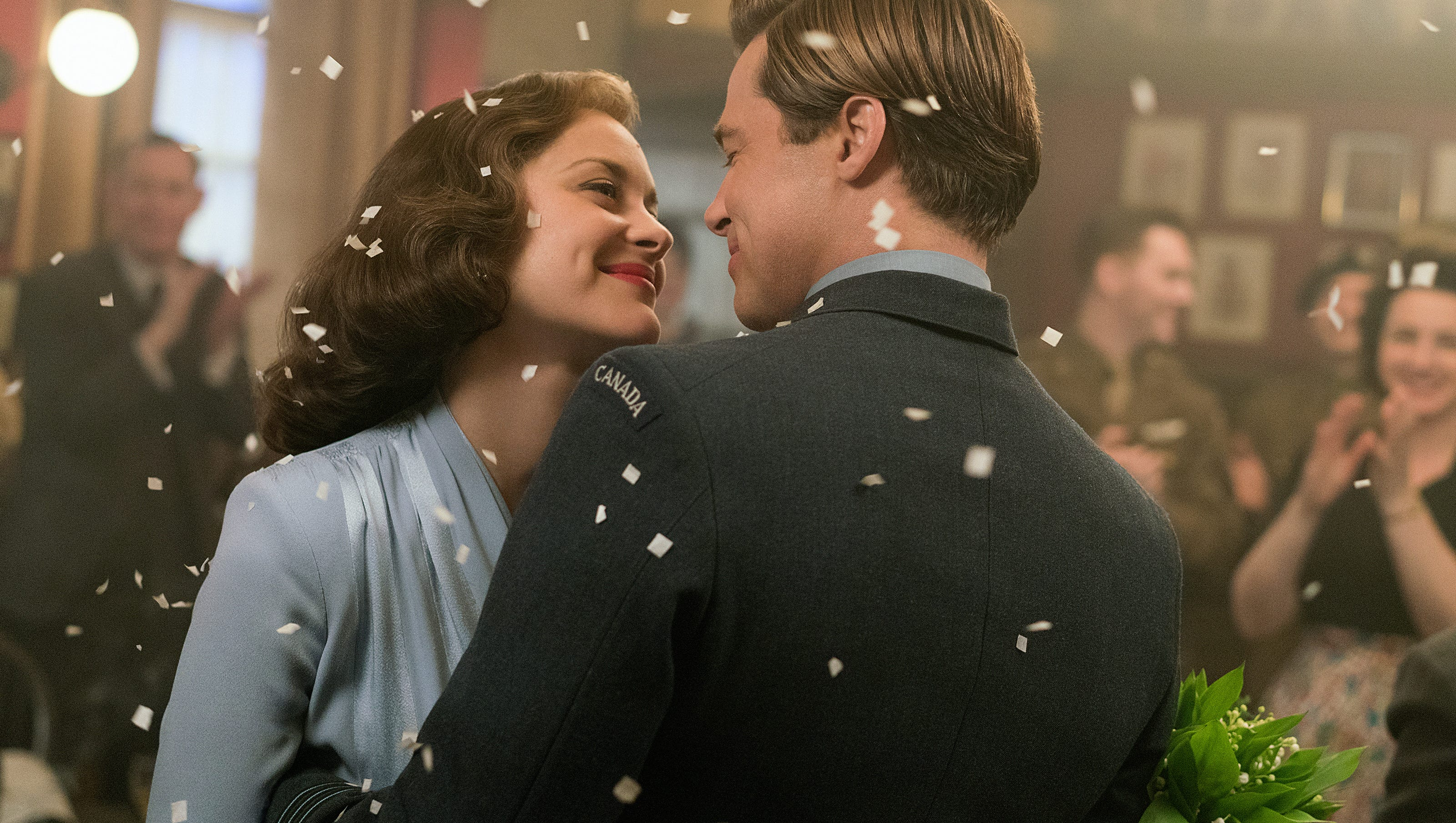 Review A List Allied Lacks Wartime Heat From Brad Pitt Marion