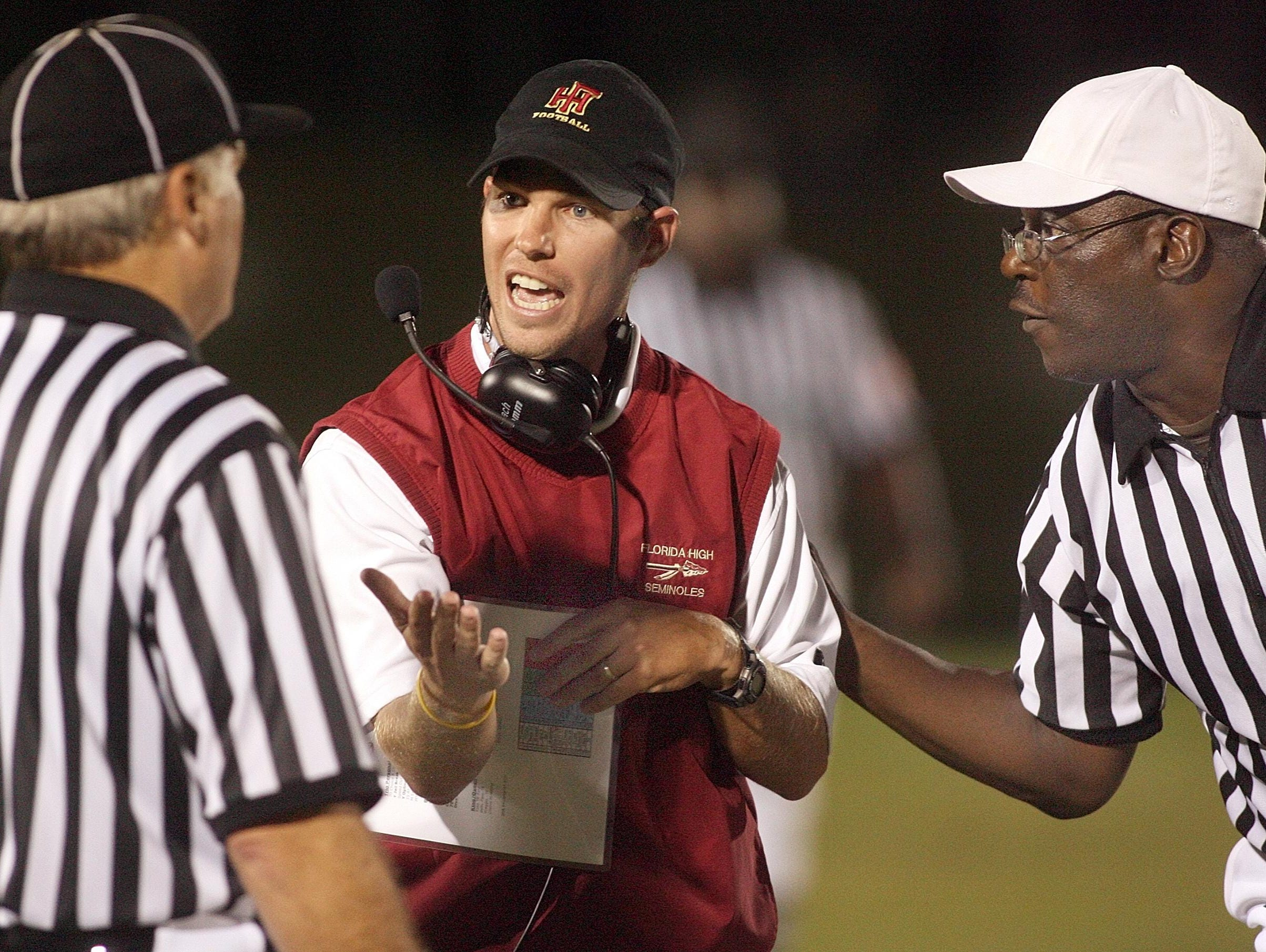 Florida High coach Jarrod Hickman needs his Seminoles team to beat Taylor County tonight to force a three-way playoff on Monday that would be a one-quarter tiebreaker scenario.