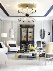 Living room designed by Jennifer McGee Design, Inc.