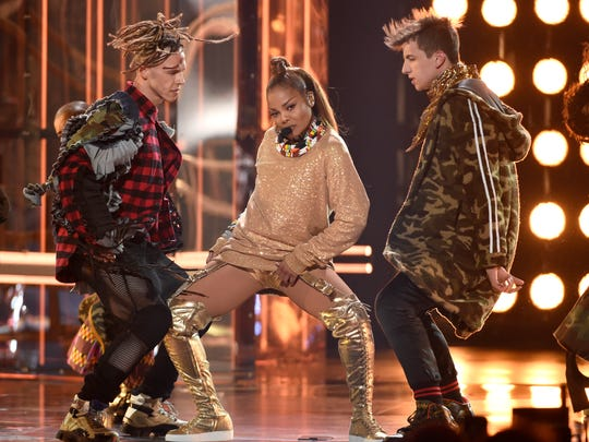 Icon award winner Janet Jackson performs a medley at