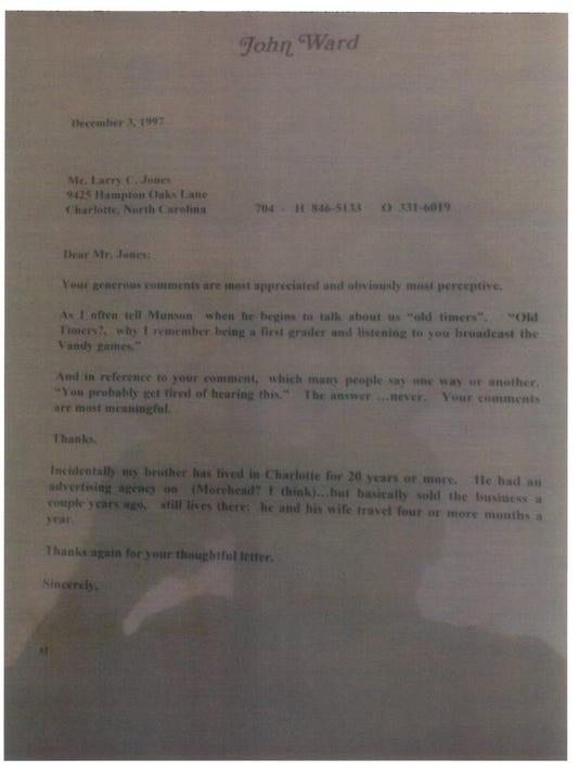 John Ward letter