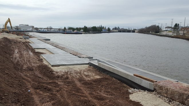 The $3.4 million harbor infrastructure project at Harbor Park is taking shape.
