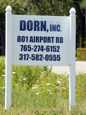A sign along U.S. 40 advertised the DORN clinic at 801 Airport Road.