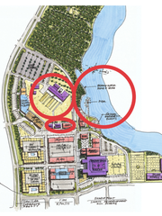 A map of where the new mixed-use development would