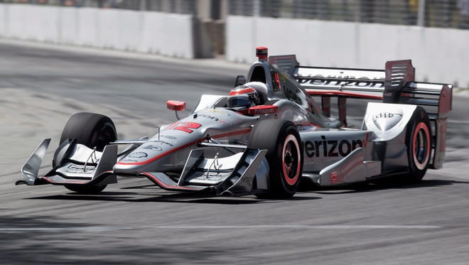 Australia's Will Power races during qualifying for the IndyCar auto race in Toronto on Saturday, July 16, 2016. (Mark Blinch/The Canadian Press via AP)