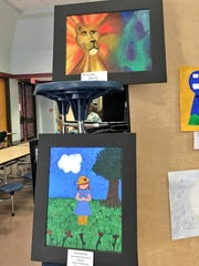 Northwood High student art was on display in the cafeteria Thursday.