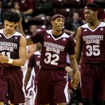 Quinndary Weatherspoon (11), Craig Sword (32) and Aric Holman helped Mississippi State to its best performance of the season this week against Arkansas.