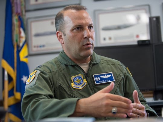 Col. Doug Hall, Commander of the 436th Operations Group at Dover Air Force Base in Dover, Del.