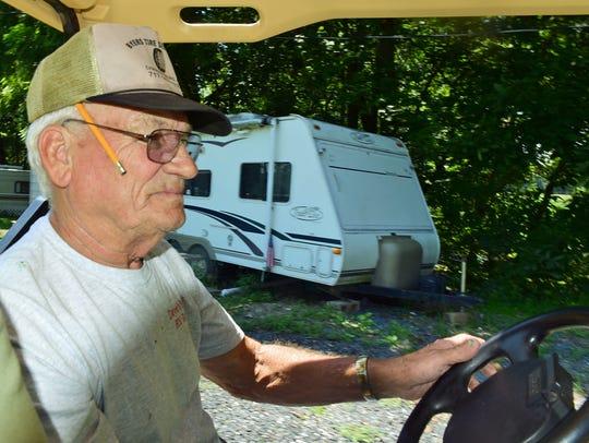 "Twin Bridge Campground manager Wilbur ""Pete"" Reasner"