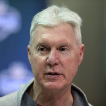 Green Bay Packers general manager Ted Thompson speaks