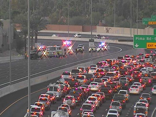 Loop 101 closed in both directions in Scottsdale