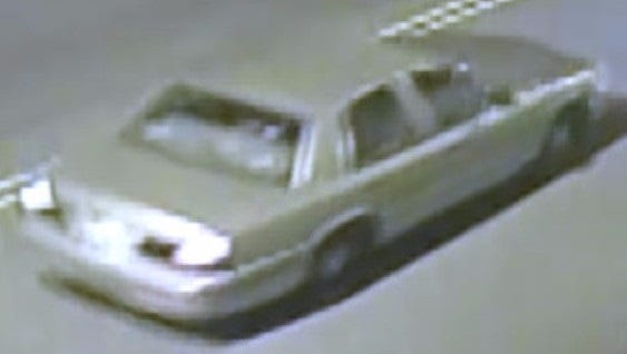 Camden County police are looking for an older-model gold Buick sedan in connection with a sexual-assault investigation.