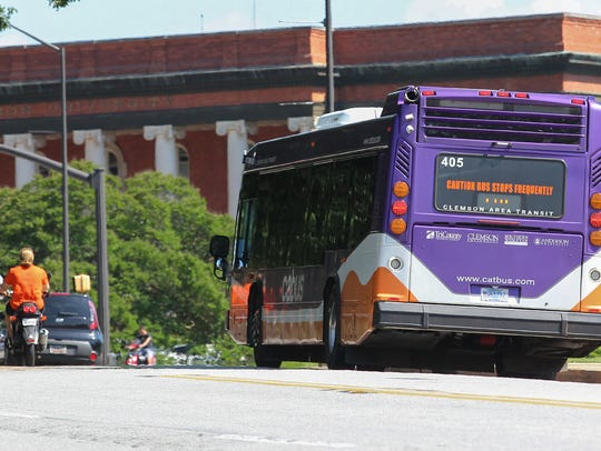 CAT service to Sikes Hall on the Clemson University