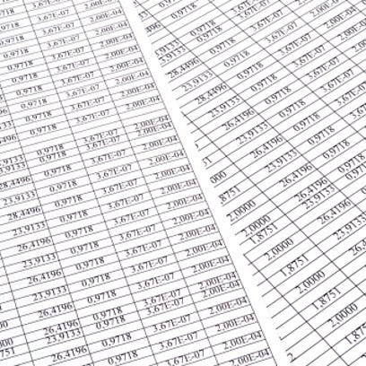 Background of the numbers on sheets  paper