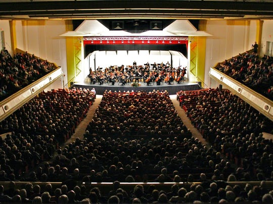 Asheville Symphony Orchestra performs its Masterworks concerts in Thomas Wolf Auditorium at the US Cellular Center.