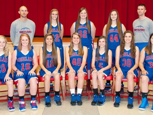 2014-15 Highland varsity girls basketball