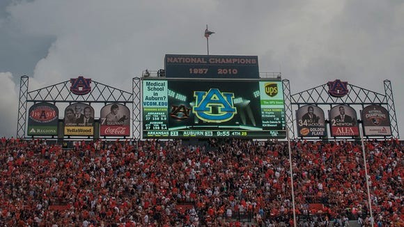 Auburn plans to replace its old video board with the biggest video board in college football.