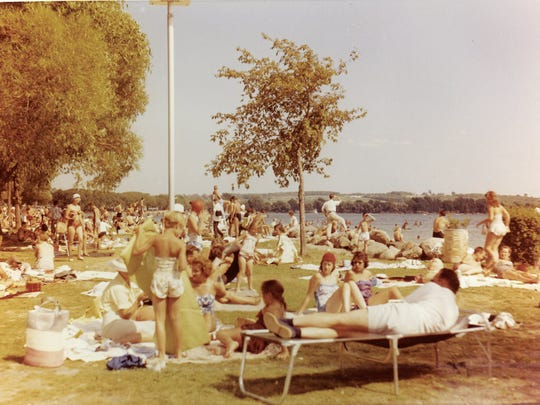When Kershaw Park opened, swimmers had the run of the park for nearly its entire length along the north shore.