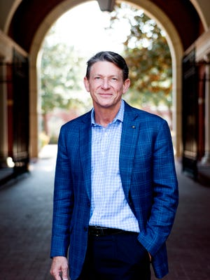 Former Tennessee Economic and Community Development Commissioner Randy Boyd poses for a photo outside of K Brew in downtown Knoxville on Tuesday, March 21, 2017.
