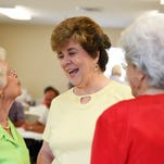 Cindy Lee, Judy Thompson and Carlen Bennett speak with each other at the opening of the new Sumrall Senior Meal Site Monday morning.  The center will start daily meals for seniors Monday through Friday from 10 a.m. to 12:12 p.m.
