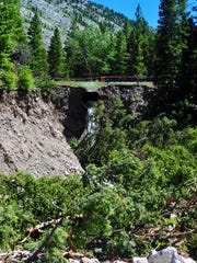 A blowout at Norwegian Gulch swept away tons of topsoil,