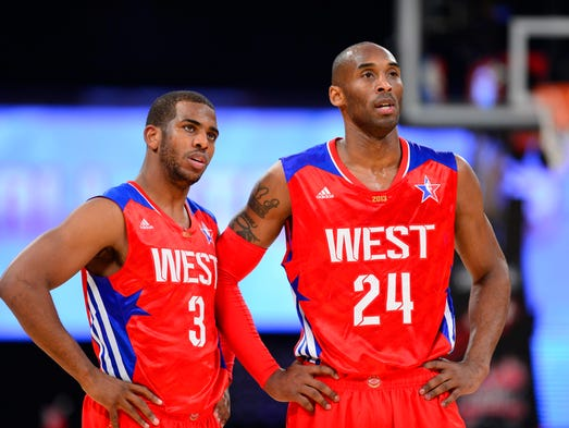 Chris Paul and Kobe Bryant again were named to the Western Conference All-Star team, though Bryant will sit out of the game this time around. Flip through to see others on the roster.