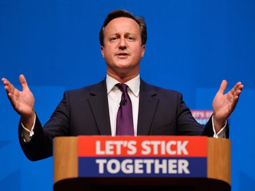"""""""I think there has been a very strong message from the rest of the United Kingdom that we want (Scotland) to stay (in the Union),"""" said U.K. Prime Minister David Cameron."""
