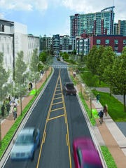 Rendering of the 11th Avenue Complete Street project in the Gulch.