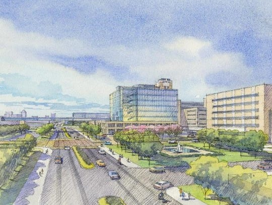 IU Health's new medical campus site at the intersection