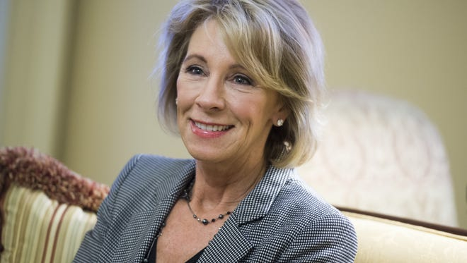 Betsy DeVos, U.S. education secretary.