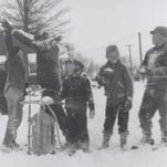 David Strange, middle, and friends during a 1960 winter.