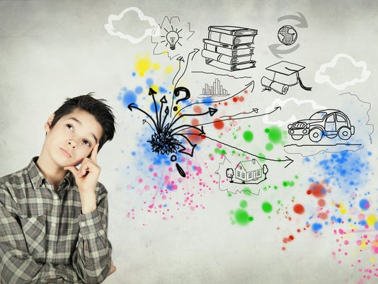 Boy imagines his future