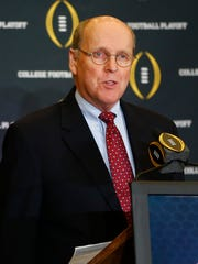 College Football Playoff Executive Director Bill Hancock.
