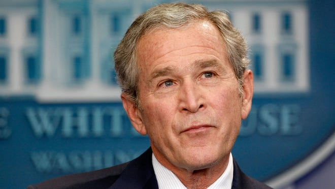 21. George W. Bush (1946-)     • Birthplace:  New Haven, Connecticut     • Party:  Republican     • Term:   2001-09 (43rd president) Besides the aforementioned Irish connection to the Bush family, the younger Bush is descended from Dermot MacMurrough, the King of Leinster, which is a province on the east coast of Ireland. He is also distantly related to Erskine Hamilton Childers, a former president of Ireland, whose father was executed during the Irish Civil War in 1922. Bush visited Ireland in 2004 and advocated for the peace initiative in Northern Ireland. George W. Bush's terms were dominated by the war on terror and the wars in Iraq and Afghanistan.
