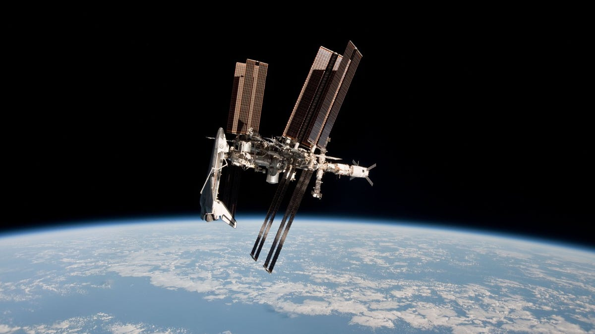 Synchronized floating among events in 'very first Space Olympics' from International Space Station